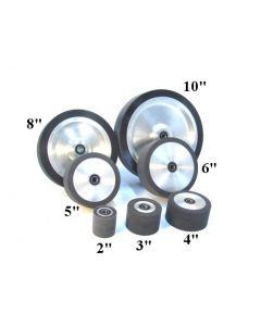 """Wheel - Contact Wheel 2""""-10"""" 1/2"""" bore - Rubber"""