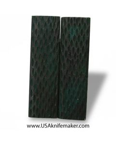 """Jigged Bone - Dyed Green- 4.5"""" x 1.25"""" Pair of Scales"""