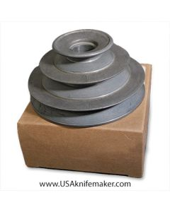 "Pulley/Sheave 3-step 4"", 3"", 2"" diameter 3/4"" bore"