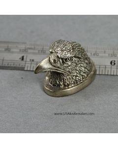 Eagle Head Pommel - Nickel Silver