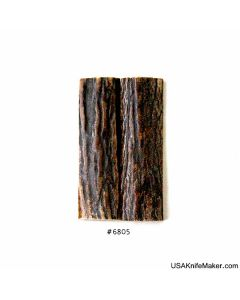 """Sambar Stag Scales #6805 - .73"""" x 2.5"""" - Knife Handle Material"""