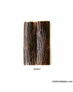 """Sambar Stag Scales #6807 - .73"""" x 2.5"""" - Knife Handle Material"""