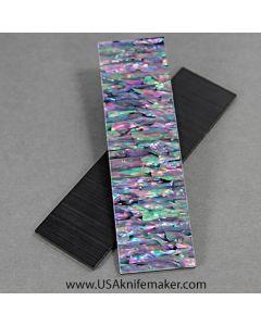 "Awabi Ribbon Clear Backing Black 1/8"" Scales"