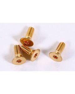 """2-56 Flat Head 1/2"""" T8 Gold Screw"""