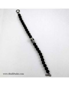 stainless steel skull bead bracelet