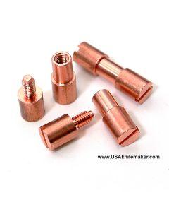 "Corby Bolt - Copper - LARGE - .245"" shaft diameter, .313"" shoulder diameter"