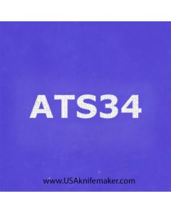 """Stencil -""""ATS34"""" - one image - approx 1"""" x 2 1/2"""" in size"""