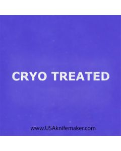 """Stencil -""""Cyro Treated"""" - one image - approx 1"""" x 2 1/2"""" in size"""