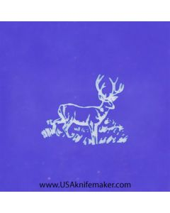 """Stencil -""""Deer"""" Wildlife 1 - one image - approx .495"""" x .420"""" in size"""