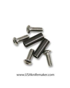 """Pivot Barrel 1/8""""x 3/8"""" for folders with (2) 2-56 x 1/4 BH SS"""
