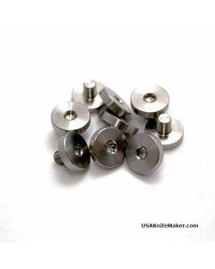 "Disc Pivot, Plain Head, Stainless Steel, .437""D, 8-64 Thread, .20"" Thread Length"