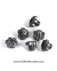 "Gear Pivot Head, .300"" Head Dia, 6-64 Thread, .15"" Thread Length, Stainless Steel"