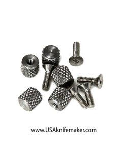 Thumb Stud Knurled 3/16 x3/16 with (1) 1-72 x 1/4 FH Screw Handle Harware Knifemaking