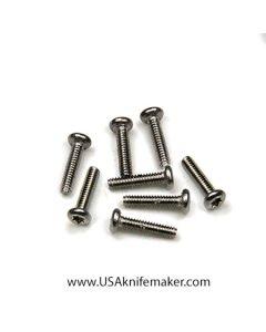 "Screw 0-80 Button Head 1/4"" Thread Length Stainless Steel"