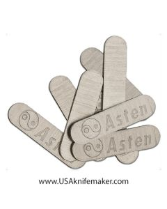 "S&T - #S460 Shield - Asten - Stainless Steel - 0.75"" x 0.18"" x 0.30"""