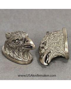 Pommel #4 Eagle Head - Nickel Silver