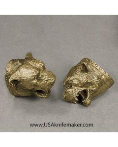 #8 Bear Head Pommel Bronze