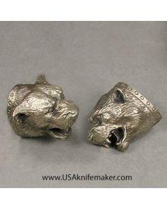 #8 Bear Head Pommel Nickel Silver