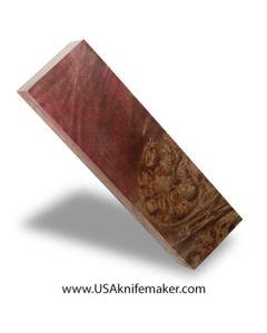 "Wood -Maple Burl Knife Block - Dyed - #3001- 1""x 1.7""x 5.8"""