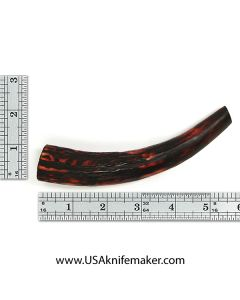 Sambar Stag Tine #117 - Dyed Amber - Knife Handle Material
