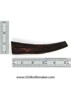 Sambar Stag Tine #131 - Dyed Amber - Knife Handle Material
