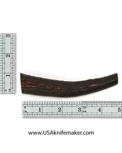 Sambar Stag Tine #140 - Dyed Amber - Knife Handle Material