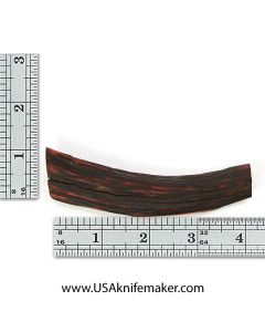 Sambar Stag Tine #148 - Dyed Amber - Knife Handle Material