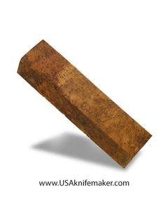 "Thuya Burl Block #2055 - 1 3/8"" x 1 3/4"" x 7 1/4"" - Knife Handle Material"