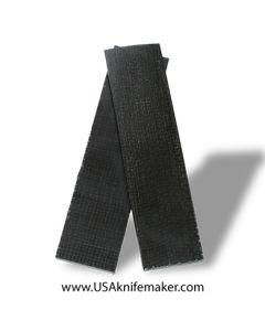 """UltreX™ Burlap - Black - 3/8"""" - Knife Handle Material"""
