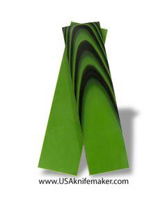 "UltreX™ G10 - Black & Neon Green 3/16"" - Knife Handle Material"