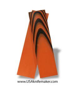 "UltreX™ G10 - Black & Orange 1/4"" - Knife Handle Material"