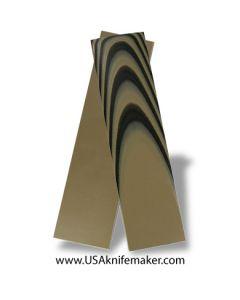 """UltreX™ G10 - Black & Tan 3/16"""" - Knife Handle Material"""