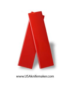 """UltreX™ G10 - Cherry Red 3/8""""  - Knife Handle Material"""