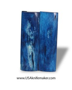 """Camel Bone - Dyed Blue - 4.5"""" x 1.25"""" Pair of Scales"""