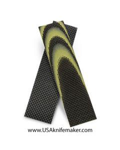 "Carbon Fiber & Yellow G10 1/8"" - Knife Handle Material"