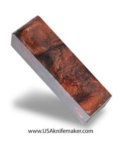 "Black & Copper Resin Block - 1.5"" x 1.625"" x 5.95"" - Knife Handle Material"
