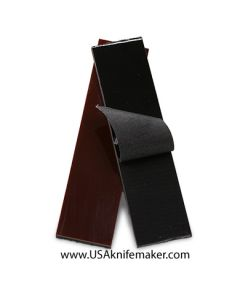 """G10 - 3/16"""" Peel Ply Medium Black G10 with .050"""" Red G10 liner - Knife Handle Material"""