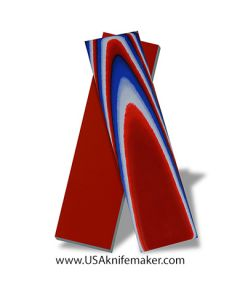 """G10 - Red, White & Blue 1/8"""" Thickness  - Knife Handle Material"""