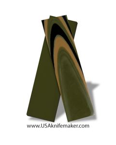 """G10 - Camo (3 Color) 1/8"""" - 3x3 Layers - Knife Handle Material"""