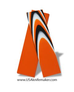 """G10 - Bengal Tiger 1/4"""" - 3x3 Layers - Knife Handle Material"""