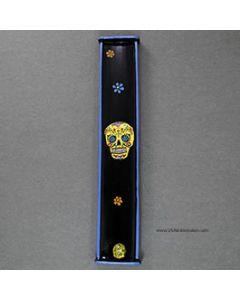 sugar skull incense burner yellow