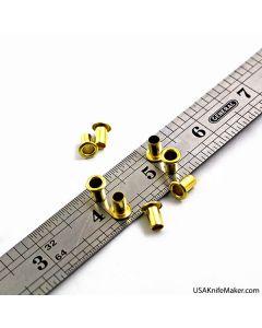 """Eyelets - S-38 Eyelets (premium Siska) 3/16"""" Brass"""