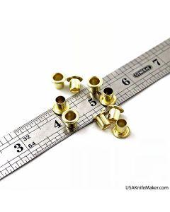 """Eyelets - S-61 Eyelets (premium Siska) 1/4""""  Brass"""