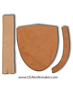 """Sheath Kit #10 - Leather - for knives with blades up to 1 1/4"""" wide by 4"""" long"""