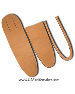 """Sheath Kit #14 - Leather - for knives with blades up to 2 3/8"""" wide by 7"""" long"""
