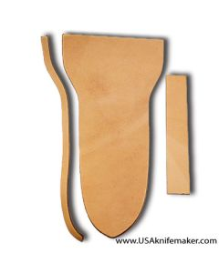 """Sheath Kit #1 - Leather - for fillet knives with up to 8"""" blades"""