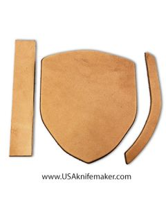 """Sheath Kit #2 - Leather - for knives with blades up to 1 5/8"""" wide by 4 ½"""" long"""