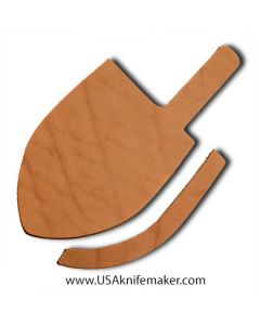 """Sheath Kit #7 - Leather - for knives with blades up to 1 1/4"""" wide by 4 1/2"""" long"""