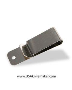"""Belt/Boot Holster Clip Medium 7/8"""" x3"""" Nickel finish"""
