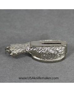 Wolf Paw Guard - Nickel Silver